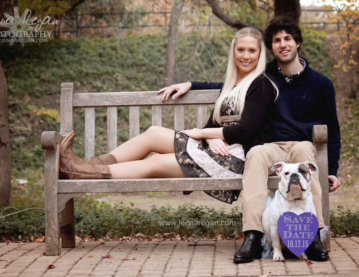 Engagement Photos with Bulldog | Pet Photography Highland Park, TX
