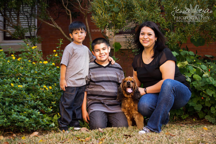 dog and children photographer north texas