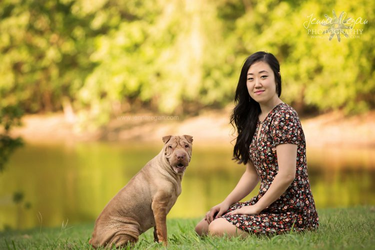 a shar pei with her mom photographed by dallas pet photographer jenna regan in mckinney texas park