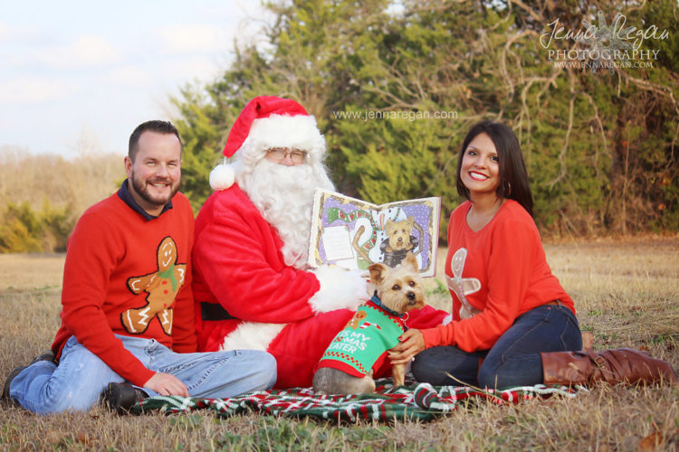 family photos with santa pet photographer mckinney texas