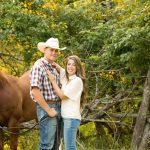 engagement photos with horses dallas
