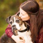 senior dog boxer kiss dog mom photo shoot dallas tx jenna regan pet photography