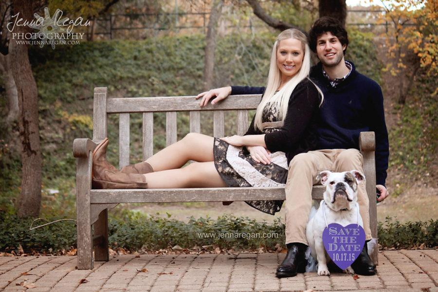 Engagement Photos with Bulldog | Pet Photography Highland Park, TX