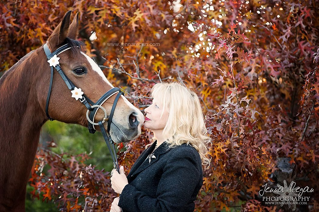 arabian horse in mckinney texas photographed in english tack during fall when the leaves were a perfect orange