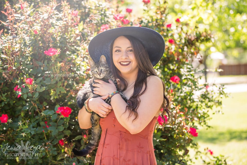 senior pet photography with cat