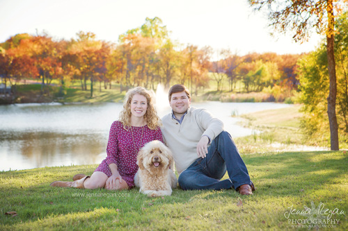 Goldendoodle Fall Family Photos | McKinney, TX