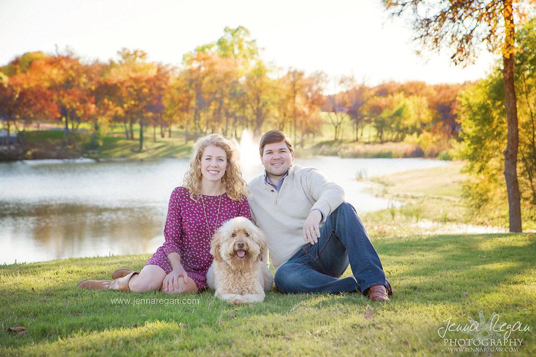 mckinney family photos fall with dog