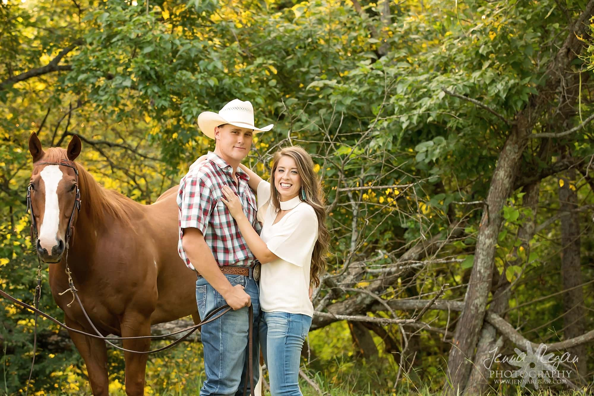Engagement Photos With Horses Dallas Equine Photography Jenna Regan Photography