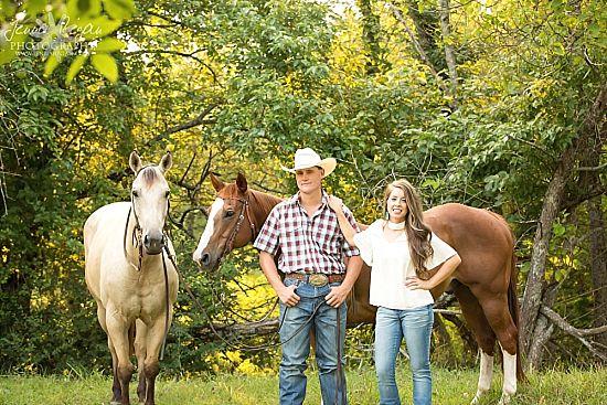 stylish equine engagement photography