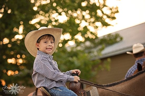 small boy on horse