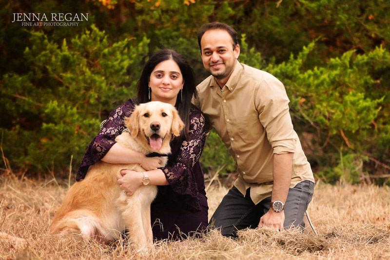 couple-with-golden-retriever-puppy-in-frisco-texas