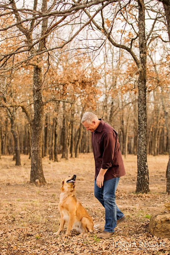 moment captured by pet photographer of man with dog