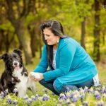 angel- border collie in bluebonnets- jenna regan pet photography